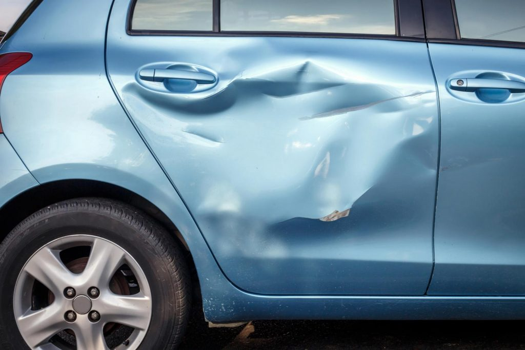 Schadeherstel van een auto